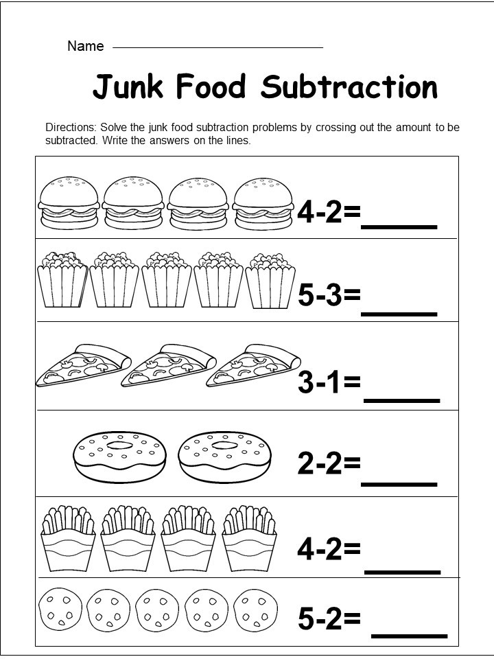 Free Kindergarten Subtraction Worksheet Kindermomma Com