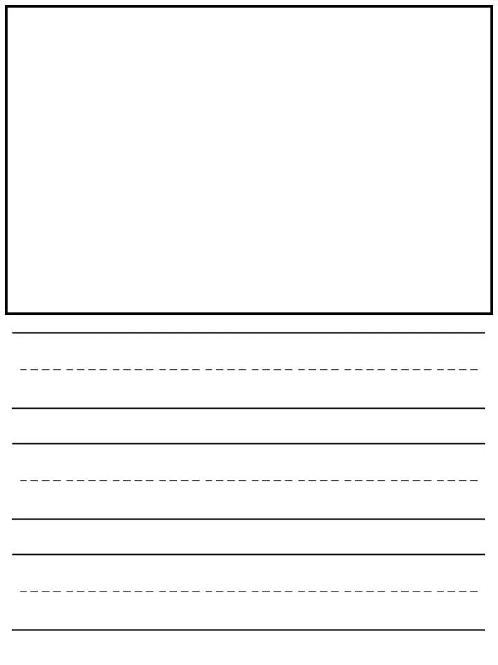 Free Kindergarten Lined Writing Paper - Kindermomma.com